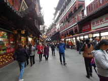 China, Shanghai, shopping centre,Yuyuan Garden , built in classical Chinese style 14 November 2014. Royalty Free Stock Photos