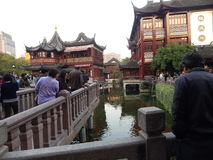 China, Shanghai, shopping centre,Yuyuan Garden , built in classical Chinese style 14 November 2014. Stock Photography