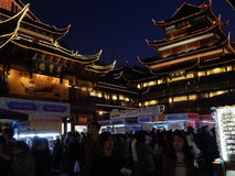 China, Shanghai, shopping centre,Yuyuan Garden , built in classical Chinese style 14 November 2014. Royalty Free Stock Photography