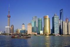 China Shanghai Skyline Royalty Free Stock Photos
