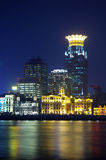China Shanghai skyline night Royalty Free Stock Images