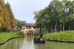 China,Shanghai water village Wuzhen Royalty Free Stock Image