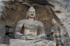 China/Shanxi: Cinzeladura de pedra de grottoes de Yungang foto de stock