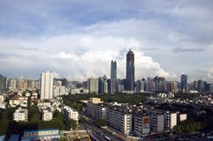 China, Shenzhen city skyscrapers Royalty Free Stock Photos
