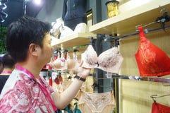 China (Shenzhen) international brand underwear Exhibition (SIUF). And Shenzhen international underwear OEM and accessories exhibition, held in Shenzhen Stock Photography