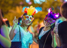 China Shenzhen many people squeezed into the theme park to participate in Halloween activities Royalty Free Stock Photography