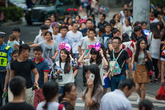 China Shenzhen many people squeezed into the theme park to participate in Halloween activities Stock Image