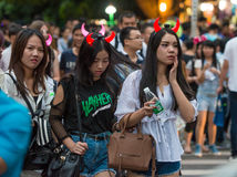 China Shenzhen many people squeezed into the theme park to participate in Halloween activities Royalty Free Stock Images