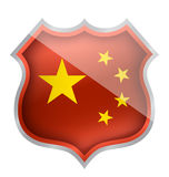 China shield Royalty Free Stock Images