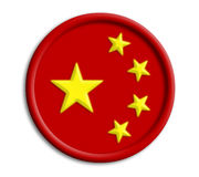 China shield Royalty Free Stock Photo