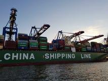 China shipping line Royalty Free Stock Photos