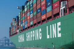China Shipping Lines container ship Royalty Free Stock Images