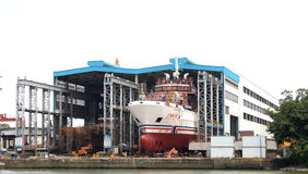 China Shipyard. Beihai 101 Search and Rescue Vessel was  China Shipyard building Royalty Free Stock Images