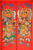 China shrine door paint Royalty Free Stock Image