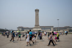 China Ásia, Pequim, o monumento aos heróis do pessoa Fotos de Stock