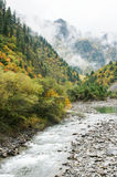 China Sichuan autumn scenery of Heishui Royalty Free Stock Image