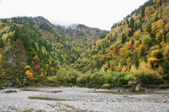China Sichuan autumn scenery of Heishui Royalty Free Stock Images