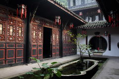 China Sichuan folk historical buildings. China Sichuan folk historical architecture, rich family Stock Photo
