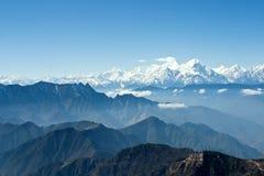 China Sichuan, Ganzi Cattle mountain scenery,  Stock Images