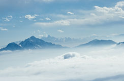 China Sichuan, Ganzi Cattle mountain scenery,  Royalty Free Stock Images
