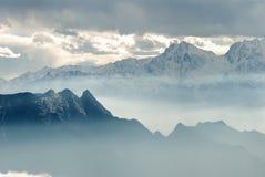 China Sichuan, Ganzi Cattle mountain scenery,  Stock Photography