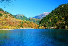 China Sichuan Jiuzhaigou scenery. From the mountains and water Stock Photos