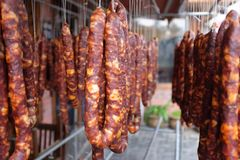 China Sichuan Sausages Royalty Free Stock Photo