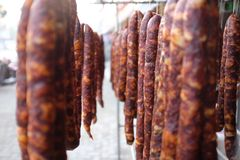 China Sichuan Sausages Stock Photography