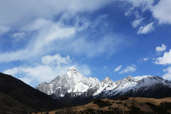 China Sichuan Siguniangshan. Siguniang located in Aba Tibetan and Qiang Autonomous Prefecture, Sichuan Province, China Xiaojin County and Wenchuan County at the Royalty Free Stock Photo