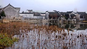 China small village. Chinese old small village located in Anhui province, bagua village, surround with river Stock Image