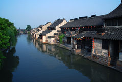 China small village. Chinese old small village located in zhejiang province,  surround with river xitang Royalty Free Stock Images