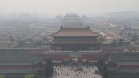 China, Smog in Beijing stock video footage