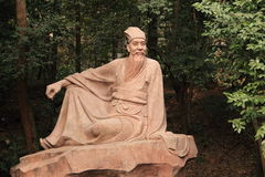China Song Dynasty scholar Su Shi statue. Su Shi, also known as Su Dongpo, the famous Song Dynasty writer China. This is his statue, located in Sichuan Province Royalty Free Stock Photography