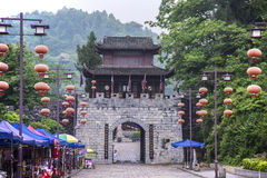 China  Songtao Miao Nationality Autonomous County  Miao Village  ancient town  city gate. China  guizhou  Tongren City  Songtao Miao Nationality Autonomous Stock Images