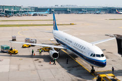 China Southern Airlines op Tarmac royalty-vrije stock foto's