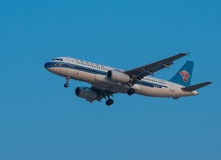 China Southern Airlines-vliegtuig Stock Afbeelding