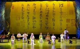 China sperrte Volksmusik Art Troupes Stockfoto