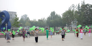 China square dance Stock Images