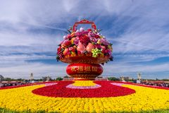 Free 中国天安门广场国庆花坛 China Square Square National Flower Bed Stock Photography - 160328372