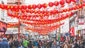 China-Stadt in London Stockbilder