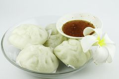 China Steamed buns on dish. Royalty Free Stock Photo
