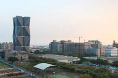 China Steel Corporation Headquarters in Kaohsiung, Taiwan, at sunset. Royalty Free Stock Images