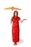 China-stijl vrouw royalty-vrije stock afbeeldingen