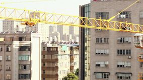 18.05.2019 Kunming, China- Crane on construction site in Chinese city stock footage