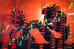 China stock market graph ticker Royalty Free Stock Image