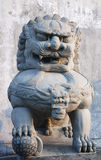 China stone art. ,Seriously, the symbol of majesty Royalty Free Stock Images