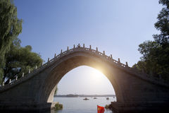 China stone bridge in Summer Palace Royalty Free Stock Images