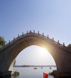 China stone bridge in Summer Palace Royalty Free Stock Photos