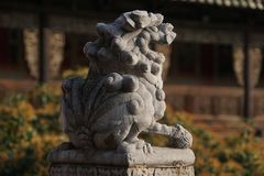 China: Stone lion Royalty Free Stock Photos
