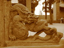 China,stone sculpture in Shaolin Royalty Free Stock Images